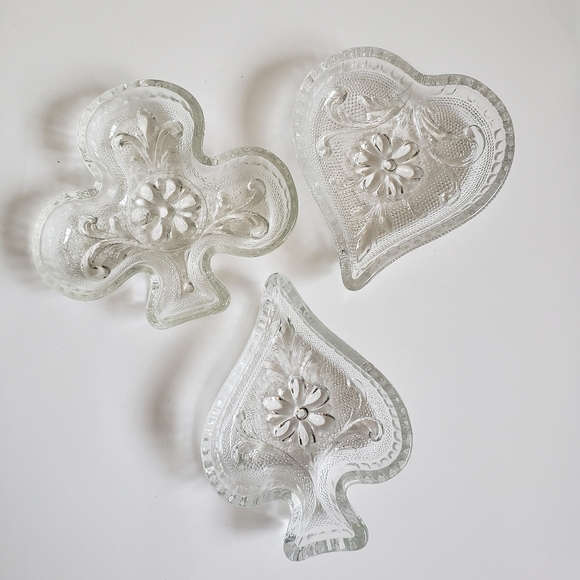 Other - Vintage 60s-70s Glass Jewelry Dishes - Poker-Theme
